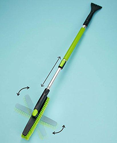 Telescopic Snowbroom with Scraper (Green) (Green Snow Brush compare prices)