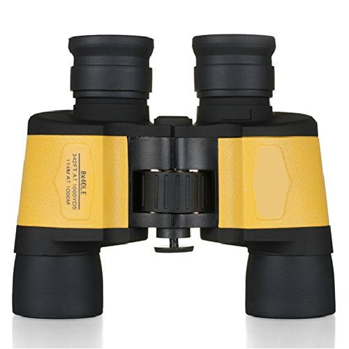 Beileshi 8X Hd Folding Binoculars Telescope(Black&Yellow)