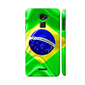 Colorpur Brazil Flag Waving Silk Fabric Artwork On Coolpad Note 3 Lite Cover (Designer Mobile Back Case) | Artist: BluedarkArt