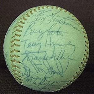 1974 Montreal Expos Team Signed Baseball - Autographed Baseballs by Sports+Memorabilia