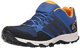adidas Outdoor Men\'s Kanadia 7 GTX Trail Running Shoe, Equivalent Blue/Black/Chalk White, 12 M US
