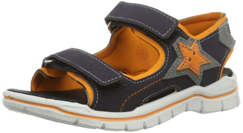 Ricosta Boys Amper M Fashion Sandals 6222600 See/Pap Blue/Orange 7.5 UK Child, 25 EU