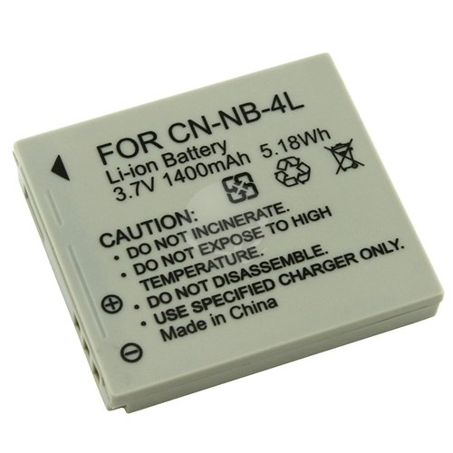 Canon Camera Battery NB4L / NB4LH Replacement for SD series SD 400 600 940IS 1000 1100 IS and more