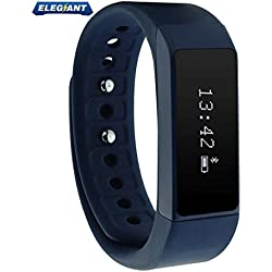ELEGIANT Wireless Bluetooth 4.0 Fitness Tracker Slim-design Smart Wristband Sports Bracelet with Multi-Functions such as Steps Counter Sleep Monitoring Calories Tracking etc.