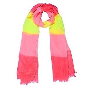 8Years Damen Modisch Bunt Art Voile Schal Herbstschal Winterschal Wickelschal Tuch Stola Bonbonfarben in rot rosa gelb 180x110cm
