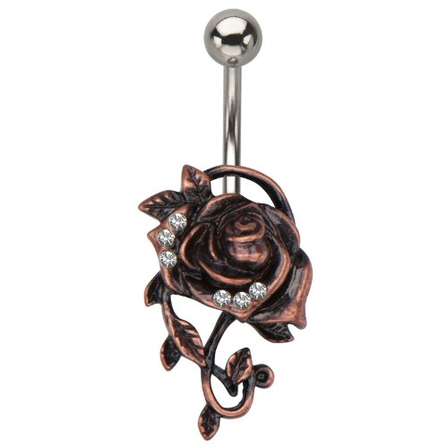 Rose Flower Belly Ring