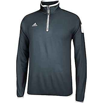 Climalite Shockwave Knit 1/4 Zip Pullover XL Onix-White: Clothing