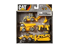 Toy / Game Toystate Caterpillar Construction Mini Machine 5-Pack - Made In China - For Ages 1 Year And Up