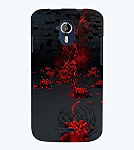 PRINTSWAG RED BALLS PATTERN Designer Back Cover Case for MICROMAX A117 CANVAS MAGNUS