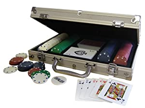 Deluxe Poker Set in Aluminum Case - 200 Dual-Toned Poker Chips