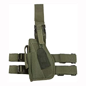 Army Tactical Leg Holster Mag Pouch Left Hand Olive by MFH