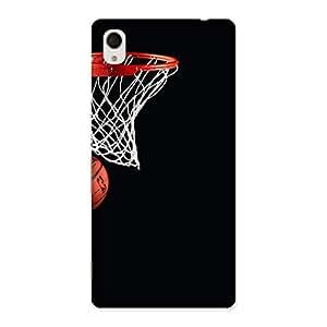 Basket Ball Multicolor Back Case Cover for Xperia M4 Aqua