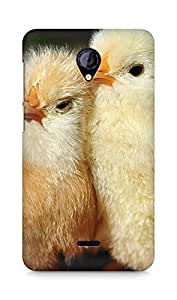 Amez designer printed 3d premium high quality back case cover for Micromax Unite 2 A106 (chicks chicken )