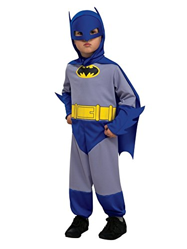 [DC Comics Toddler Boys Gray Batman Costume Jumper with Cape & Mask 2T] (Bold Jumpsuit Costumes)