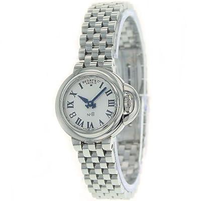 Bedat Women's 827.011.600 No. 8 Steel Case Bracelet Silver Roman Dial Watch