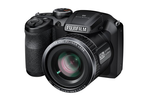 Fujifilm FinePix S4800 Digital Camera - Black (16 MP, 30x Optical Zoom) 3.0 inch LCD