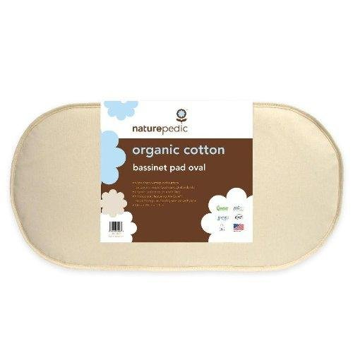 Naturepedic MBV1329 Organic Cotton Oval Bassinet Mattress Pad in Small