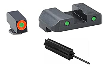 AmeriGlo GL-386 SpartanTactical Glock 42 ProGlo (Orange circle) Front + Pro Op Rear (Green) + Ultimate Arms Gear Pro Disassembly 3/32 Pin Punch Armorers Gunsmith Tool