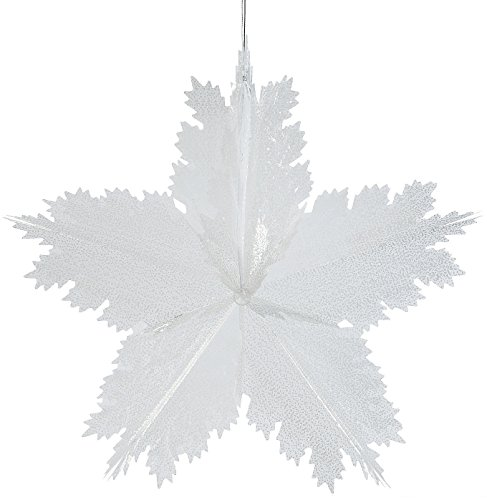 "Giant Snowflake Decoration - Chrismats Decorations. 22"". Plastic."