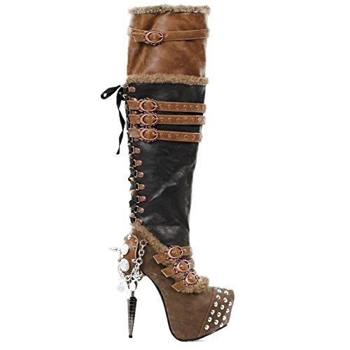 Womens-Hades-Ventail-Boot-Black-Brown