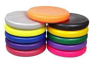 "Isokinetics Inc. Brand Exercise Disc / Balance Cushion - 14"" Diameter - Yellow"