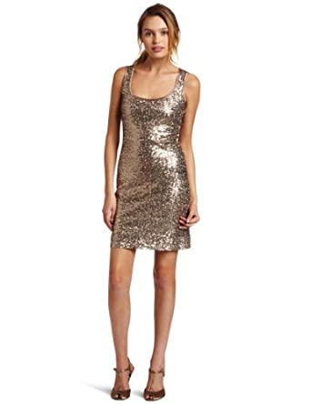 Jump Juniors Sparkle And Shine Tank Dress, Bronze, 7/8