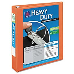 Heavy Duty Nonstick View Binder w/Locking 1 Touch EZD Rings, 1 1/2\