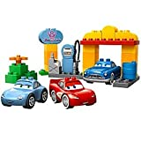 41HVhEkIrGL. SL160  Disney Flos Station Cars Lego Duplo Play Set