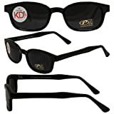 Pacific Coast Original KD's Biker Sunglasses (Black Frame/Smoke Lens)