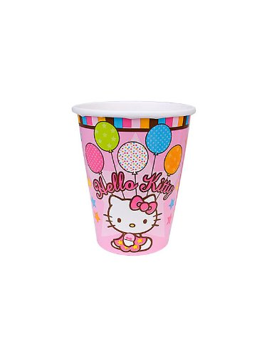 Amscan Unisex Adult Hello Kitty Balloon Dreams 9 oz. Cups Black Medium