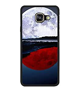 printtech Red White Moon Water Back Case Cover for Samsung Galaxy A5 (2016) :: Samsung Galaxy A5 (2016) Duos with dual-SIM card slots