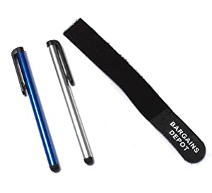 Bargains Depot® CABLE TIE + (Silver, Dark Blue) ULTRA / SILM / ACCURATE / FINE POINT / THINNER BARREL (2 in 1 Bundle Combo Pack) Capacitive Stylus/styli Universal Touch Screen Pen for Samsung Tablet & Cell Phone : Samsung Omnia W, Samsung Stratosphere, Samsung Transform Ultra, Samsung GALAXY Tab 10.1 T-Mobile, Samsung Focus S, Focus Flash, Samsung GALAXY Note, Samsung Galaxy Tab 7.7