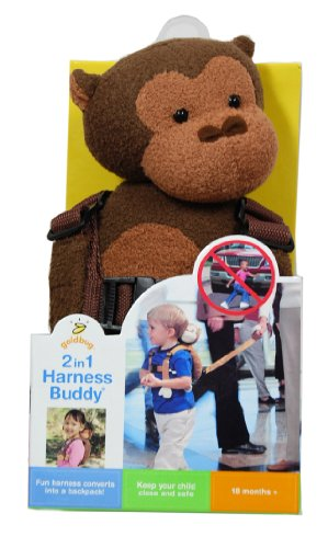 Review Goldbug Animal 2 in 1 Harness, Monkey