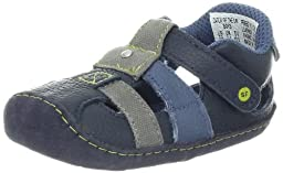 Stride Rite Crawl Catch Of The Day Sandal (Infant/Toddler),Navy,2 M US Infant