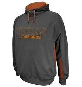 Texas Longhorns Mens Cover 2 Gunmetal Hooded Sweatshirt by VF Imagewear, Inc