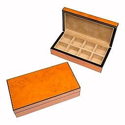 Light Burl Wood Cufflinks Box / Case by Cuff-Daddy