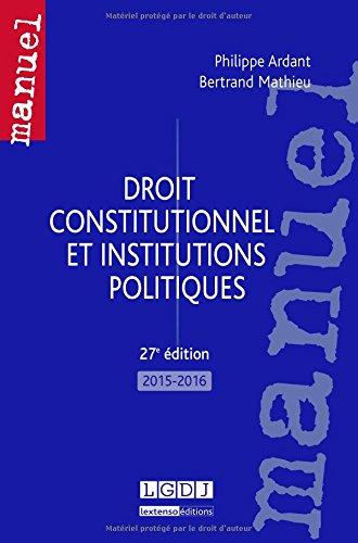 Droit constitutionnel et institutions politiques 2015-2016