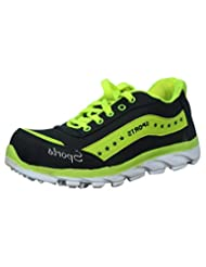 Rootz Black & Green Sports Shoes