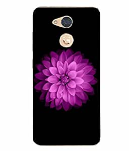 Case Cover Flower Printed Black Soft Back Cover For Gionee S6 Pro
