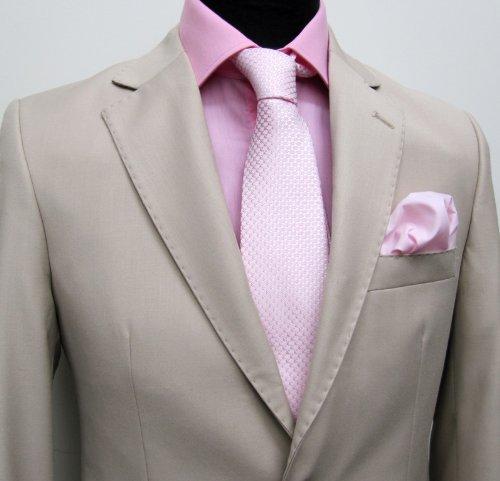 MUGA mens Suit elegant, Slim-line, Beige, Size 38R (EU 48)