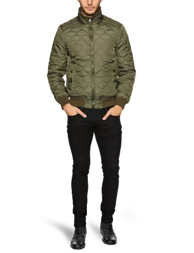 Dockers Nylon Quilted Bomber Men's Jacket Olive XX-Large