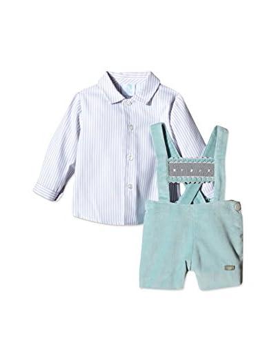 Elisa Menuts Conjunto Camisa + Peto Verde Agua / Gris