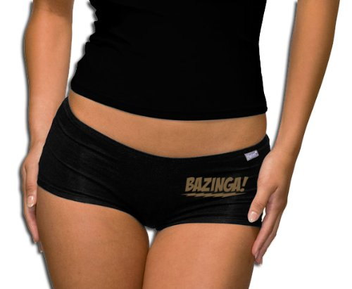 The Big Bang Theory - Bazinga Logo Panty - Short Black/Gold M