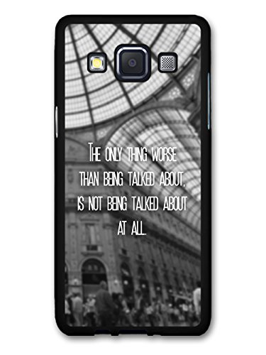 The Only Thing Worse Inspirational Quote Fashion Cool Design custodia per Samsung Galaxy A3 (2014 edition)
