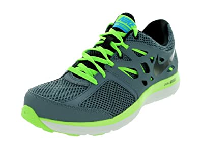 Nike Men's Dual Fusion Lite Armory Slate/Blk/Flsh Lm/Bl Hr Running Shoes 10.5 Men US