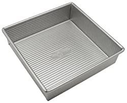 USA Pans 8 Inch Aluminized Steel Square Cake Pan with Americoat
