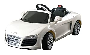 Dexton Audi R8 Spyder Ride On, White