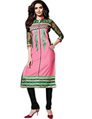 Glitzy Cotton Semi Stiched Salwar Suit - B016N6VI3W
