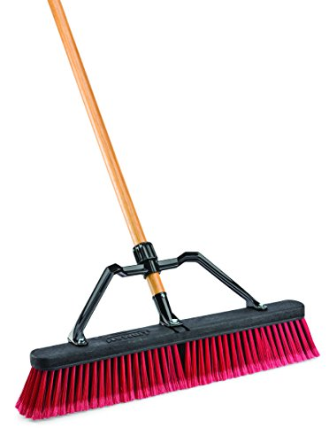 Libman Commercial 827G Multi-Surface Industrial Push Broom with Brace, 65