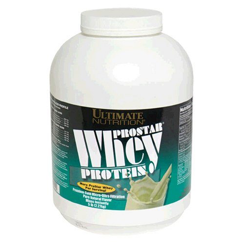 Ultimate Nutrition ProStar Whey Protein, Pure Natural Flavor, 5.28-Pound Tub
